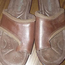 Minnetonka Ladies Brown Leather Toe Ring Saldals Size 7 Photo