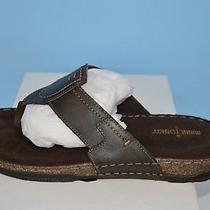 Minnetonka Men's Hudson Brown Leather Sandal Style 77013brn Size 10 Photo