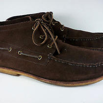 Minnetonka Mens Brown Suede Ankle Boots Gum Sole Size 10.5 Moccasin Photo
