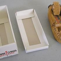 Minnetonka Miniature Moccasin Key Chain Key Ring 991 M Tan New in Box Photo