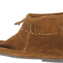 Minnetonka Mocassin Brown Suede Fringe Western Ankle Indian Zipper Boots 8.5 Photo