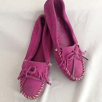 Minnetonka Mocassins Mocs Hot Pink/fuchsia Suede Size 8 Photo