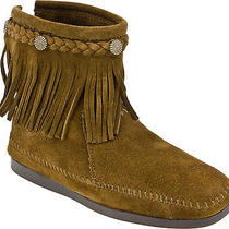 Minnetonka Mocasssins Women's 293 Back-Zip Boot Dusty Brown Us Size10 Photo