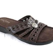 Minnetonka Moccasin 8m Brown Suede Strappy Sandals Womens Ladies Sandals Shoes   Photo
