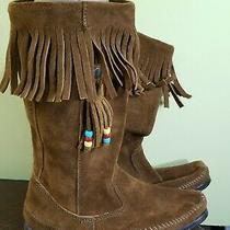 Minnetonka Moccasin Boots Ladies Size 8 New 0283105 Photo