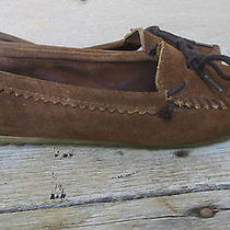 Minnetonka Moccasin Brown Suede Moccasins  Size  8 Photo