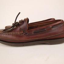 Minnetonka Moccasin Dark Brown Leather Moccasin Loafers Shoes Sz 6.5 Photo