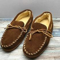 Minnetonka Moccasin Mens Suede Pile Lined Moccasins - Brown - Men Size 11 Photo