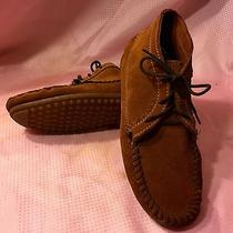 Minnetonka Moccasin Suede Leather Ankle Boot 272 Brown Women's 8.5 Euc Photo