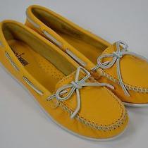 Minnetonka Moccasin Yellow Leather Photo