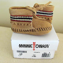 Minnetonka Moccasins 1101 - Infants Braid on Cuff Bootie Infant Size 1 Photo