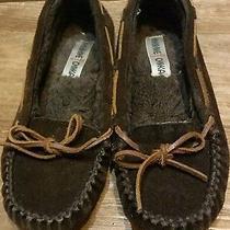 Minnetonka Moccasins 40351 Women's Slippers-Chocolate Suede-Us Size 7 Photo