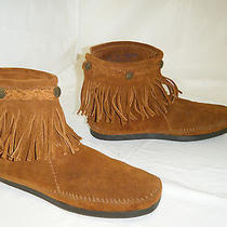 Minnetonka  Moccasins Boots Size 8.5 Women Used Photo