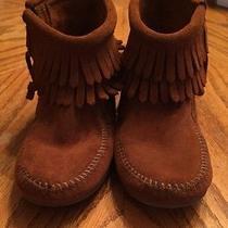 Minnetonka Moccasins Brown. Childrens Size 12. Photo
