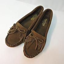 Minnetonka Moccasins Us 9 M Womens Kilty Shawl Brown Suede Extra Nice (419 Photo