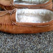 Minnetonka Moccasinswomens Size 8tan Suede Gently Worn Photo