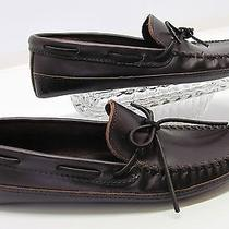 Minnetonka Moccasons Brown Leather Slip on Driving Shoe Loafer Sz 11 Photo