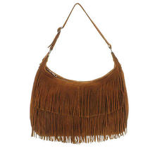 Minnetonka Nwt Brown Suede W Fringe Hobo Bag Handbag Photo