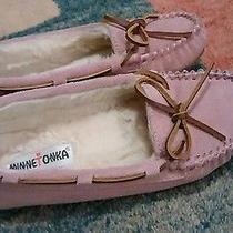Minnetonka Pink Blush Moccasins Womens 7 Euc Photo