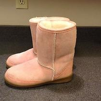 Minnetonka Pink Suede Leather Insulated Fashion Boots Womens Size 6 M Photo