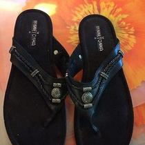 Minnetonka Silverthorne Black Thong Sandals Size 9 Photo