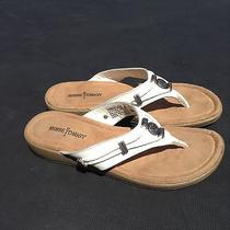Minnetonka Silverthorne Thong Leather Flip Flops Sandals Shoes Used Size 8 Photo