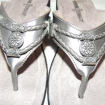 Minnetonka Silverthorne Thong Womens Grey Flip Flops Sandals Shoes No Box/ Sz-6 Photo