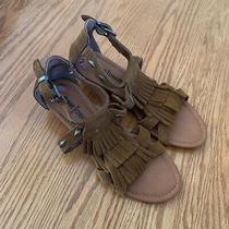 Minnetonka Tan Fringe Sandals Womens Size 6 Photo