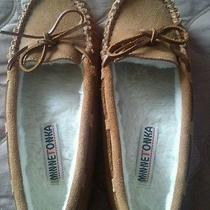 Minnetonka  Tan Slip on Moccasins Size 7. Great Condition Photo