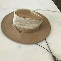 Minnetonka the Air Flow Hat Outback Suede Leather Size Small  Photo