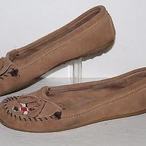 Minnetonka Thuderbird Ii Moccasin 607t Tan Leather Women's Us Size 11 Photo