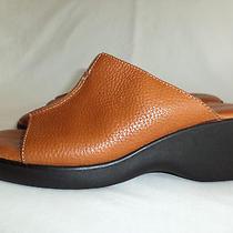 Minnetonka Us 7 Womens Tobacco Brown Sandals Slides 2.25