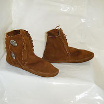 Minnetonka Vintage Moccasins Boots Size 5.5 Women Used Photo