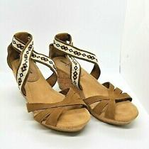 Minnetonka Women Brown Sandals Espadrilles Wedges Suede Leather Boho Womens Sz 9 Photo