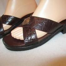 Minnetonka  Women's Brown Leather Sandals 7 M Photo