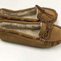 Minnetonka Women's Cally Faux Fur Moccasin Slipper Cinnamon Size 6 New Photo