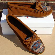 Minnetonka Women's El Paso Ii Suede Moc - Brown - 7.5 Photo