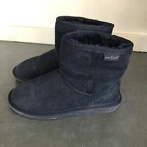 Minnetonka Women's Navy Blue Suede Olympia Boots Size 8 Photo