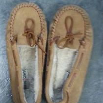 Minnetonka Women's  Slipper - Cally Brown Suede - 9m 4032 Cinnamon Photo