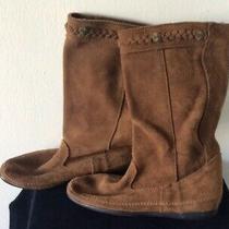 Minnetonka Womens Brown Suede Boots Sz 6 Photo