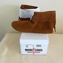 Minnetonka Womens Moccasins Brown 182 New in Box Photo
