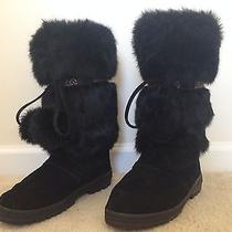 Minnetonka Womens Rabbit Fur Boots Winter Boots Size 7 Photo