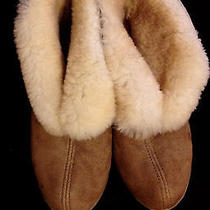 Minnetonka Womens Slippers Genuine Sheepskin Ankle Boot Moccasin Slipper Size 7  Photo