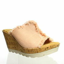 Minnetonka Womens York Blush Linen Sandals Size 8 (996877) Photo