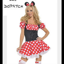 Minnie Mouse Fancy Dress Costume Size 6-12 24hr Dispatch Photo