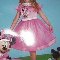 Minnie Mouse Pink Halloween Costume 3t-4t and Minnie Mouse Treat Bag Photo