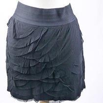Mint50 Express Black Ruffle Tiered Stretch Mini Skirt M 8 10 Photo