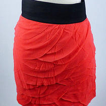 Mint50 Express Coral Pink Ruffle Tiered Mini Skirt M 8 10 Photo