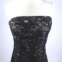 Mint60 Express Black Lace Empire Waist Bustier Corset Stretch Top 6 4 S Photo