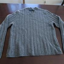 Mint Abercrombie Fitch Mens Heather Gray Knit Lambswool Vneck Gq Sweater Sz S M Photo